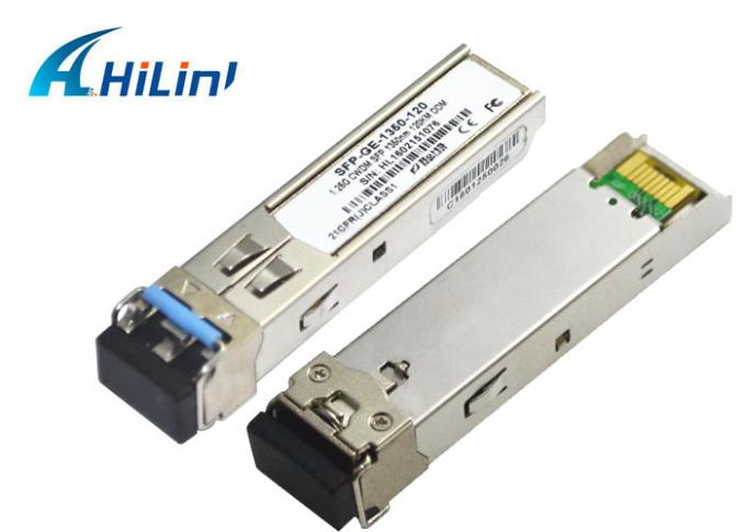 CWDM ZX 120KM Cisco SFP Transceiver Module , Small Form Factor Pluggable Transceiver