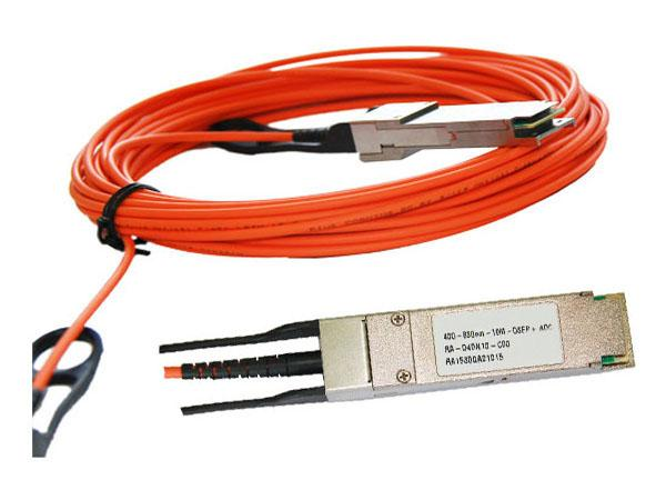 10M Active Optical QSFP To QSFP Cable Multimode Fiber Low Power Consumption