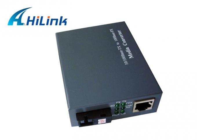 10M / 100M 20KM Fiber Media Converter Single Mode AC220V With External Power Supply