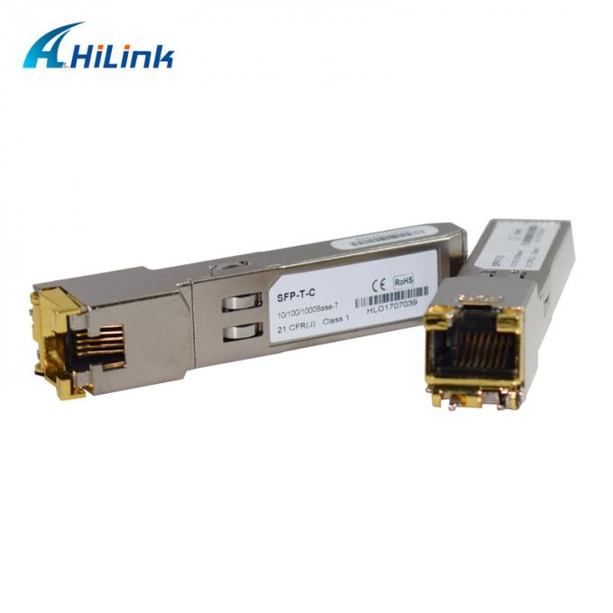10/100/1000base SFP-T copper SFP Transceiver Module rj45 100 transmission distance