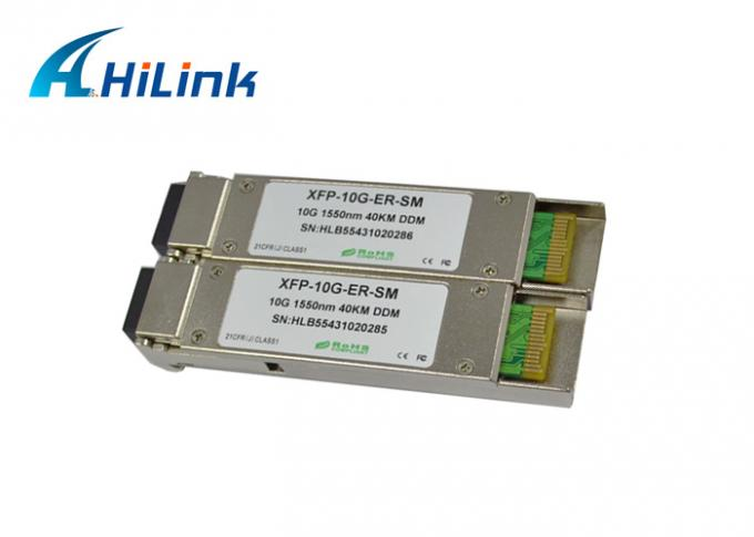 Multi - rate XFP Optical Transceivers 10G BASE-ER/EW Ethernet 10Gb/s 40km 1550nm