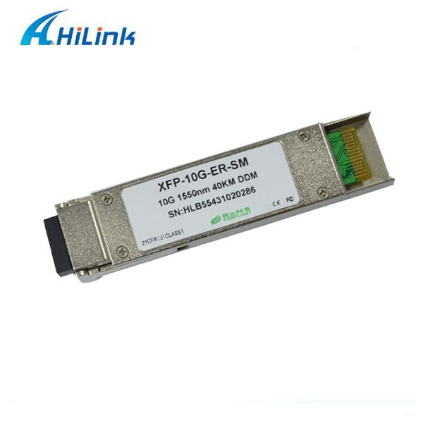 40km 1550nm Optical Transceiver Module 10G Base XFP Compatible Cisco Huawei