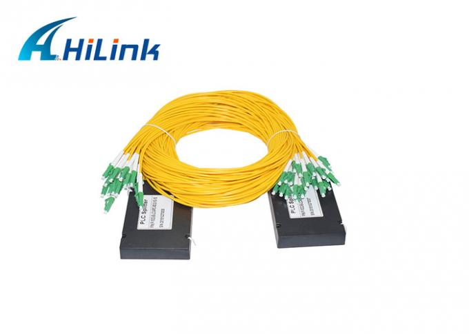 Passive FTTH Fiber Optical Splitter 1x32 PLC SC/LC Connector 1260-1650nm Low PDL