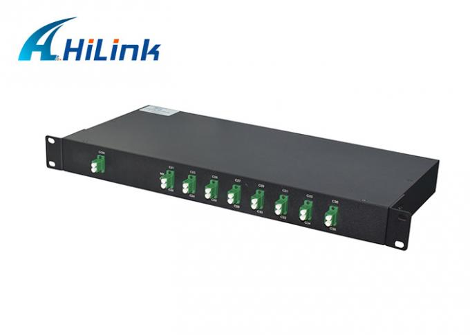 16ch DWDM MUX DEMUX C21-C36 1U Rackmount Package Equipment LC/APC Single Fiber