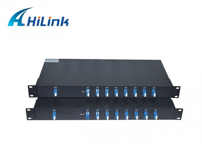 16 Channels Passive DWDM Mux Demux Modules C Band Single Mode Media Hilinksy