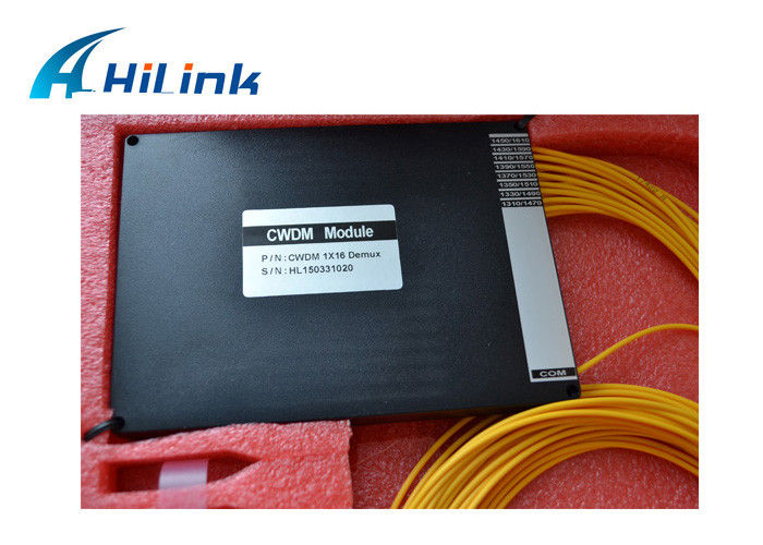 Single Fiber CWDM Multiplexer , 8 Channel Mux Optics Equipment With ABS Box