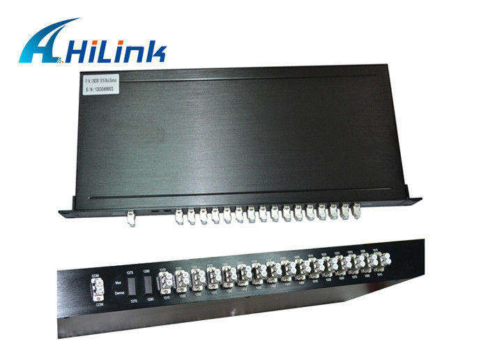 Customized CWDM 16 Channel Mux Dual Fiber 1U Rack Mount Low Insertion Loss