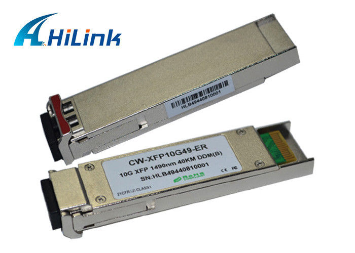 Professional ER 10G XFP Transceiver CWDM Module 40KM 1490nm LC Duplex With DDM