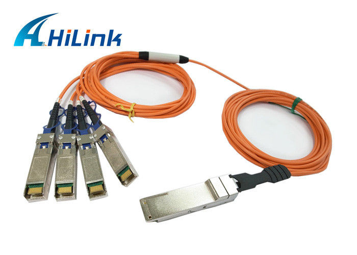 Hot Pluggable QSFP Optical Cable QSFP-4X10G-AOC2M Energy Saving Hilink Brand