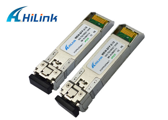 10KM Bidirectional SFP Transceiver Module Fiber Optic LC Connector 3 Years Warranty