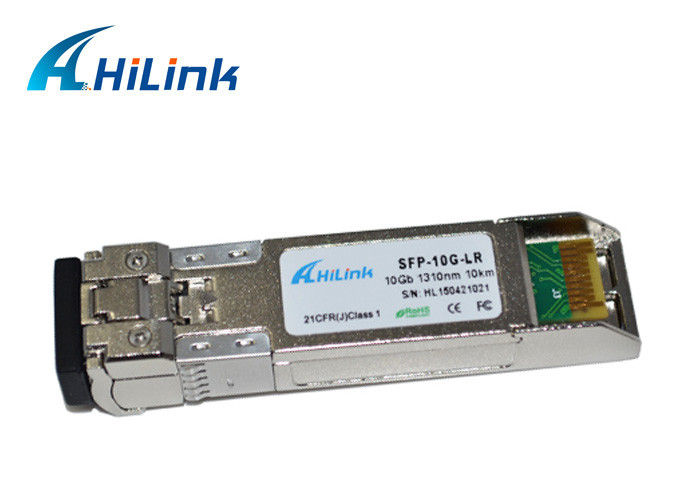 100% Compatible 10G SFP+ Transceiver Dual Fiber LC Connector 1310nm 20Km 10G-SFP-LR