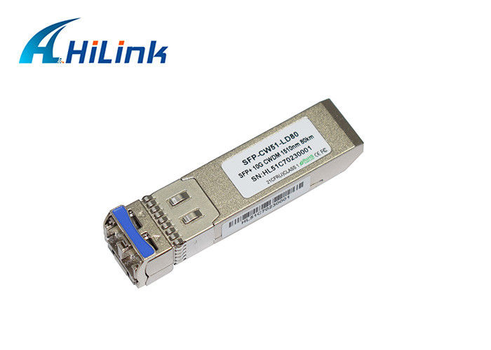 10G 1510nm 80km ZR CWDM SFP+ Transceiver Module for CWDM Mux Demux Systems