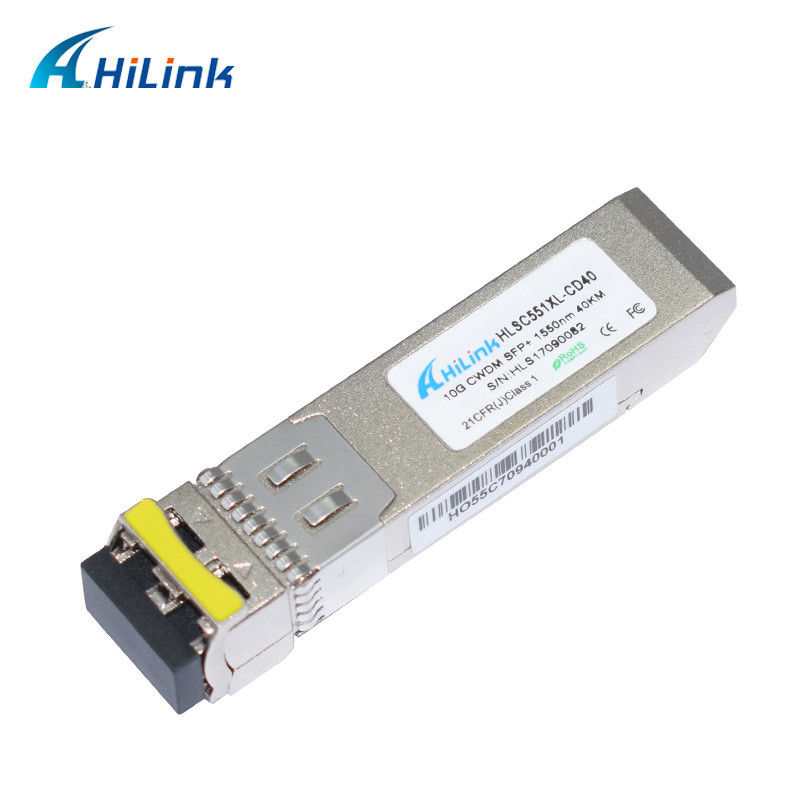 40KM WDM Fiber Optic Transceiver 10Gbase SFP-10G-ER 1550nm CWDM Module
