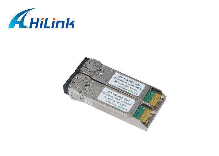 DDM Fiber Optic Transceiver Module SFP + LC Customized Logo HL-SFP-10GBX-3