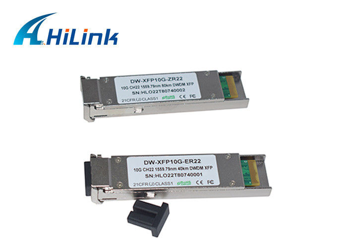 DWDM-XFP Fiber Transceiver Module 40KM 10G Data Rate SMF With DDM LC Connector