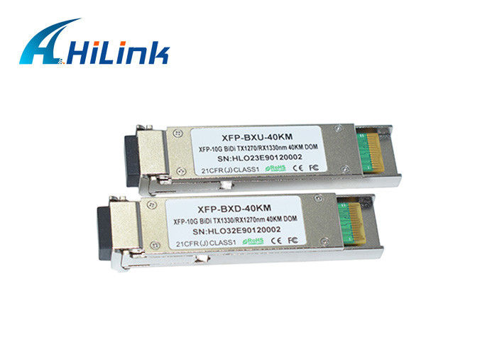 10Gbps XFP Transceiver 10GBASE-BX WDM 1270nm/1330nm 40km DOM BiDi XFP LC Connector