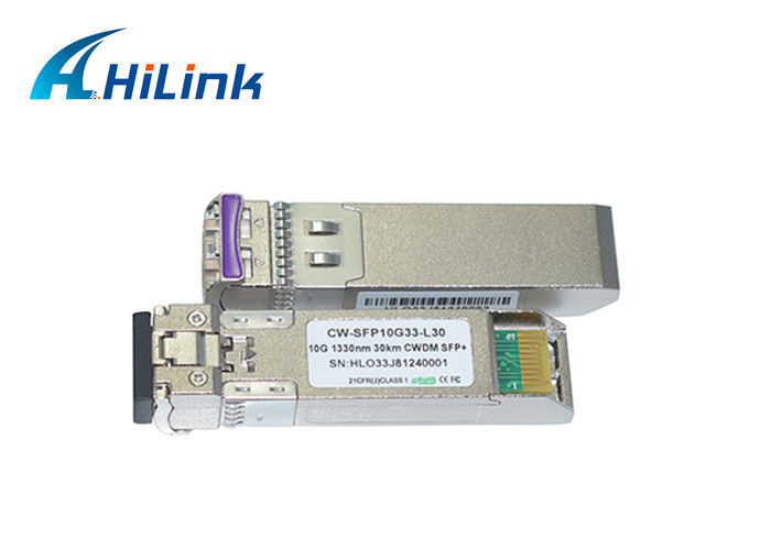 CWDM SFP+ Transceiver Module 1330nm Wavelength 30km With 3 Years Warranty