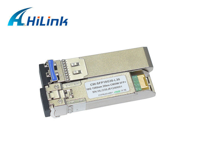 Optical Fiber Single Mode Fiber Transceiver CWDM SFP+ 1350nm 30km LC Connector