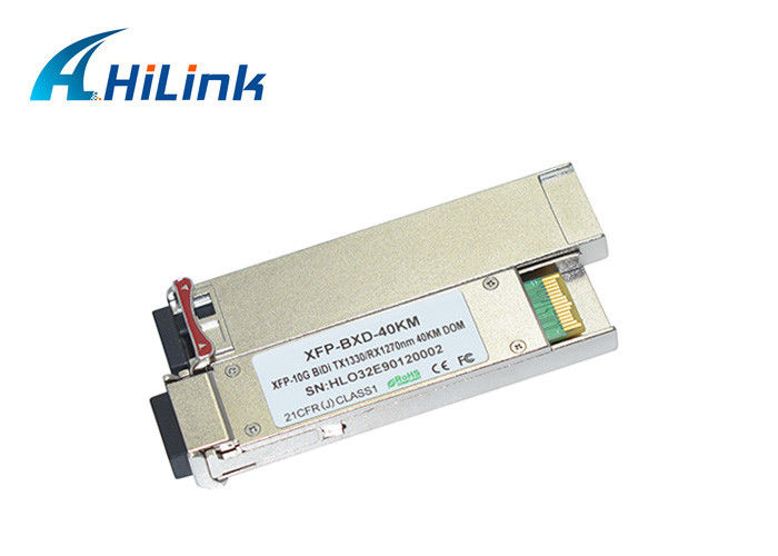 LC XFP Optical Transceiver Compatible Huawei / Cisco XFP 10G Bidi 1270/1330nm 40km