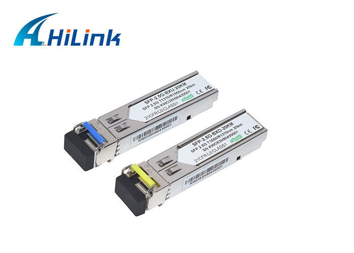 SM Single Fiber Sfp Optical Transceiver 2.5G BIDI 20km LC/SC Connector 1310/1550nm Gbic