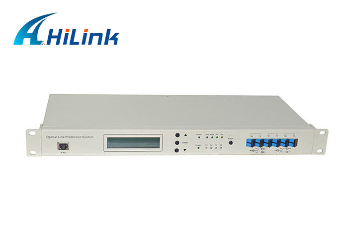 Low Insertion Loss Fiber Optic Wdm OLP Optical Line Protection System LC/UPC Managed Chassis