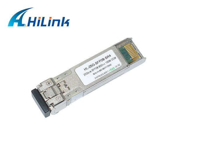 25G SFP28 SR SFP+ Transceiver Module Multimode MMF 850nm With LC Connector