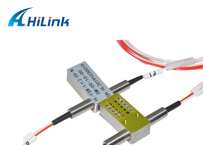 1X2 Mechanical Optical Switch 1310/ 1550nm SM 5V Non Latching 0.5m Without Connector
