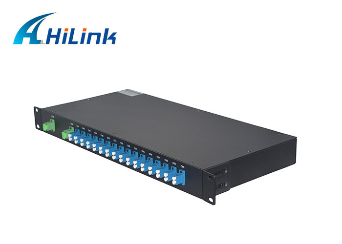 16 Channels DWDM Mux Demux Module , 100GHz 1 In 16 Out C Band rack mounted modules