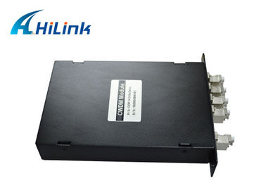 China 1470 - 1530 nm LGX Box CWDM Mux Demux Module 4 Channel With LC / APC Connector factory