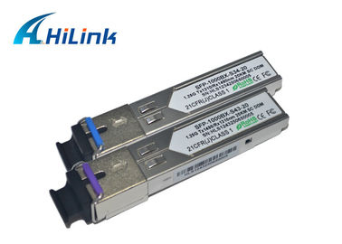 China TX1490 / RX1310nm Fibre SFP Module HP Huawei Juniper Compatible Low Power Dissipation factory