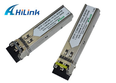 China CWDM SFP Transceiver Fiber Optic Interface Module Low Power Dissipation 1260 - 1610nm factory