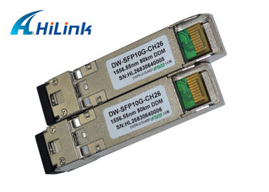 China DWDM 10GB SFP+ Module Fiber Optic Transceiver CH26 EML Transmitter SMF Cable Type factory