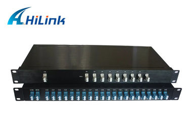 China DWDM Filter 80 Channel Mux Demux , Fiber Optic DWDM Multiplexer Low PDL factory