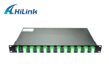 China Duplex fiber 40 channel dwdm athernal AWG Multiplexer AAWG LC APC Connector factory