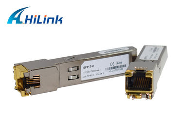 China 10/100/1000base SFP-T copper SFP Transceiver Module rj45 100 transmission distance factory