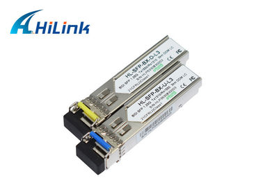 China 1.25g WDM SFP Single Mode Sfp Transceiver Bidi 3km 1310/1550nm factory