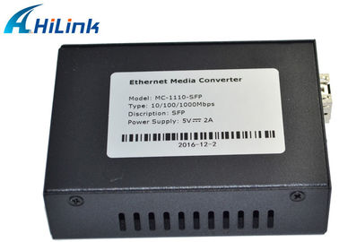 China Fiber optic to RJ45 Port Fiber Media Converter 10/100/1000M SFP Media Converter Single Mode distributor
