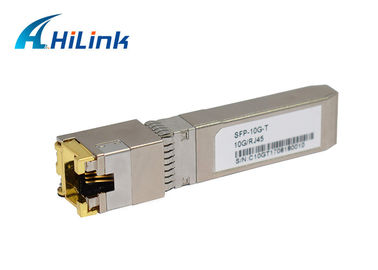 China SFP-10G-T Gigabit Ethernet 30M 10GBASE-T 10G SFP+ Transceiver Module Copper RJ45 factory