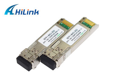 China 1270/1330nm 20Km 10Gb BIDI SFP+ Wdm DFB+PIN Up to 80km Easy Compatible factory