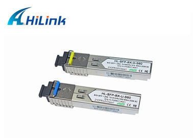 China 1.25G 1310/1550nm Bidirectional Fiber Optic SFP Transceiver Module Single Mode DOM With SC/LC Connector distributor