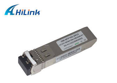 China Ethernet Optical SFP+ Transceiver Module 10GBASE-ZR Duplex LC CH23 1558.98nm DWDM factory