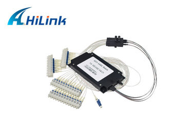 China 40 Channel DWDM Mux Demux AAWG Modules C21-C60 For Data Center ABS Box Single Fiber distributor
