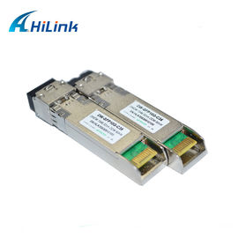China 10G DWDM SFP Transceiver Module Data Rate 10G 80km Distance 23db DDM Fiber Optic factory