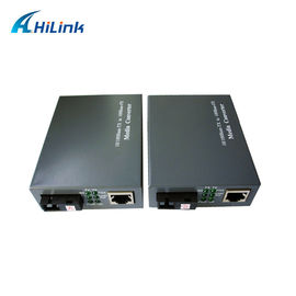 China 10/100M Fast Ethernet Fiber Media Converter Auto Negotiation One RJ45 / SFP Port distributor