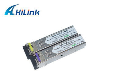 China 1000 BASE -BX Fiber Optic Sfp Module WDM Transceiver 1.25G 1490/1550nm DOM BiDi SFP LC distributor
