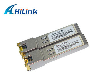 China Cisco Compatible Optical Transceiver Module SFP-GE-T 10/100/1000 Base-T Copper RJ45 Connector factory