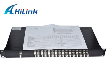 "China 16CH Single Fiber CWDM Multiplexer LC/UPC Mental Connectors In 1U 19"" Rack Mount Chassis distributor"
