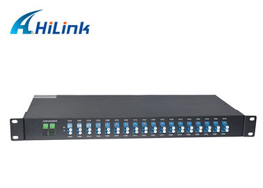 China 19' 1U 18 Channels CWDM Mux Demux , Duplex Cwdm Fiber 1270-1610nm LC/UPC Connector distributor