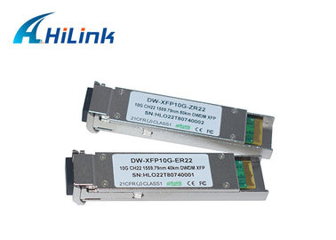 China Compatible Cisco 10G XFP Transceiver , XFP 10G ZR 1550nm 80km With LC Connector factory