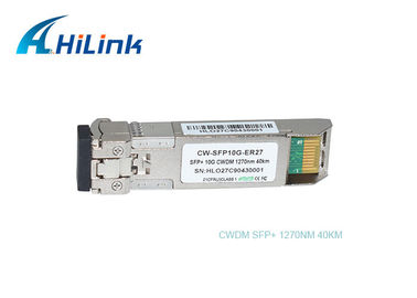 China Optical Equipment Sfp Fiber Module 10G CWDM 1270NM 40KM CWDM 3 Years Warranty factory